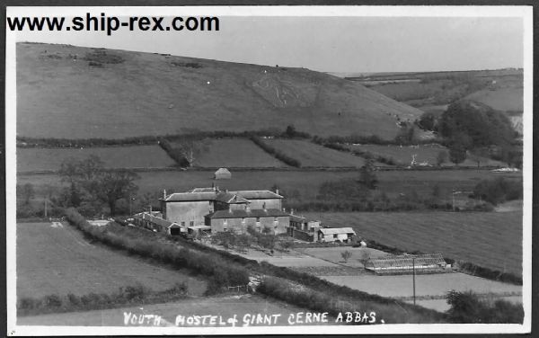 Cerne Abbas, Youth Hostel and Giant - plain-backed card